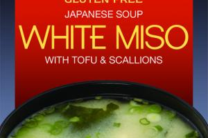 WHITE MISO WITH TOFU & SCALLIONS JAPANESE SOUP