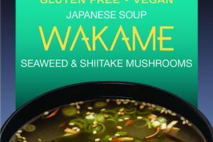 WAKAME SEAWEED & SHIITAKE MUSHROOMS JAPANESE SOUP