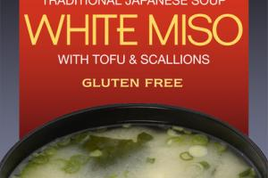 TRADITIONAL WHITE MISO WITH TOFU & SCALLIONS JAPANESE SOUP