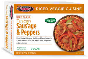 TUSCAN SAUS'AGE & PEPPERS MEATLESS RICED VEGGIE CUISINE