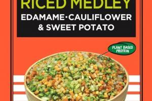 RICED MEDLEY EDAMAME, CAULIFLOWER & SWEET POTATO