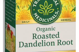 ORGANIC ROASTED DANDELION ROOT HERBAL SUPPLEMENT WRAPPED TEA BAGS