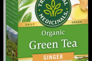 ORGANIC GREEN TEA BAGS HERBAL SUPPLEMENT, GINGER