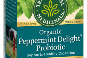 ORGANIC PEPPERMINT DELIGHT PROBIOTIC SUPPORTS HEALTHY DIGESTION HERBAL TEA BAGS