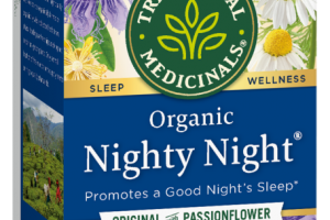 ORGANIC PROMOTES A GOOD NIGHT'S SLEEP HERBAL SUPPLEMENT TEA BAGS, ORIGINAL WITH PASSIONFLOWER