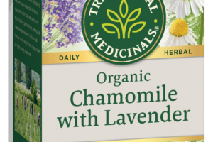 ORGANIC CHAMOMILE WITH LAVENDER HERBAL SUPPLEMENT TEA BAGS