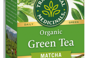MATCHA GREEN TEA HERBAL SUPPLEMENT WRAPPED TEA BAGS