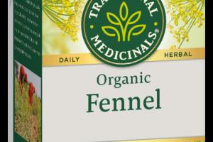 ORGANIC FENNEL HERBAL SUPPLEMENT TEA BAGS