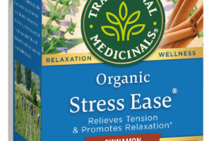 ORGANIC STRESS EASE RELIEVES TENSION & PROMOTES RELAXATION HERBAL SUPPLEMENT TEA BAGS, CINNAMON