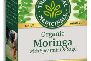 ORGANIC MORINGA WITH SPEARMINT & SAGE DAILY HERBAL SUPPLEMENT WRAPPED TEA BAGS