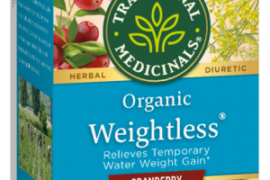 ORGANIC RELIEVES TEMPORARY WATER WEIGHT GAIN HERBAL SUPPLEMENT TEA BAGS, CRANBERRY