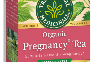WOMEN'S ORGANIC PREGNANCY TEA HERBAL SUPPLEMENT WRAPPED TEA BAGS, RASPBERRY LEAF
