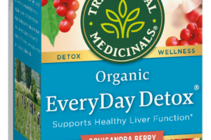 ORGANIC EVERYDAY DETOX HERBAL SUPPLEMENT WRAPPED TEA BAGS, SCHISANDRA BERRY