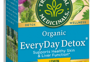 ORGANIC EVERYDAY DETOX SUPPORTS HEALTHY SKIN & LIVER FUNCTION HERBAL SUPPLEMENT, LEMON