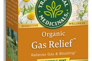 GAS RELIEF HERBAL SUPPLEMENT, CHAMOMILE MINT