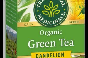 ORGANIC DANDELION HERBAL SUPPLEMENT GREEN TEA BAGS