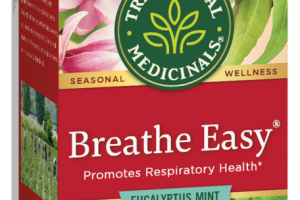BREATHE EASY PROMOTES RESPIRATORY HEALTH HERBAL SUPPLEMENT TEA BAGS, EUCALYPTUS MINT