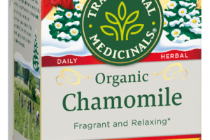 ORGANIC CHAMOMILE HERBAL SUPPLEMENT TEA BAGS