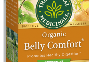ORGANIC BELLY COMFORT HERBAL SUPPLEMENT TEA BAGS, PEPPERMINT