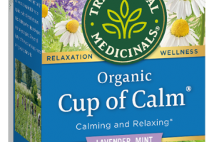 ORGANIC CUP OF CALM WRAPPED TEA BAGS, HERBAL SUPPLEMENT LAVENDER MINT