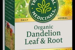 ORGANIC DANDELION LEAF & ROOT CAFFEINE FREE HERBAL SUPPLEMENT TEA BAGS