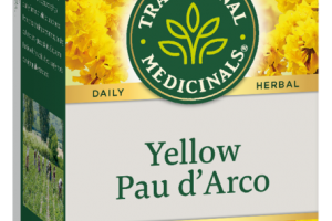 HERBAL SUPPLEMENT TEA BAGS, YELLOW PAU D' ARCO