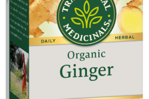 ORGANIC GINGER HERBAL SUPPLEMENT WRAPPED TEA BAGS