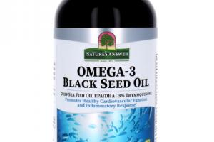OMEGA-3 BLACK SEED OIL PROMOTES HEALTHY CARDIOVASCULAR FUNCTION AND INFLAMMATORY RESPONSE* DIETARY SUPPLEMENT GREAT TASTING ORANGE