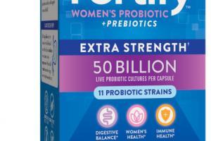 WOMEN'S PROBIOTIC + PREBIOTICS EXTRA STRENGTH PROBIOTIC SUPPLEMENT, DELAYED-RELEASE VEG. CAPSULES