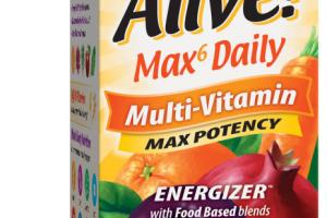 MAX6 DAILY MAX POTENCY ENERGIZER MULTI-VITAMIN SUPPLEMENT VEG CAPSULES