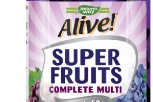 WOMEN'S 50+ SUPER FRUITS POWDER BLEND (150 MG PER SERVING) COMPLETE MULTI-VITAMIN SUPPLEMENT GUMMIES