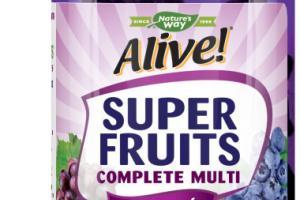 WOMEN'S SUPER FRUITS POWDER BLEND COMPLETE MULTI-VITAMIN SUPPLEMENT GUMMIES