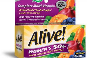 WOMEN'S 50+ ORCHARD FRUITS / GARDEN VEGGIES POWDER BLEND (100 MG) MULTI-VITAMIN MULTI-MINERAL DIETARY SUPPLEMENT TABLETS