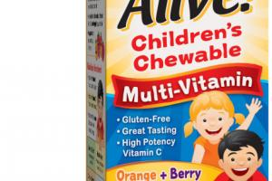 CHILDREN'S MULTI-VITAMIN ORCHARD FRUITS / GARDEN VEGGIES POWDER BLEND (150 MG) DIETARY SUPPLEMENT CHEWABLE TABLETS, ORANGE + BERRY FRUIT