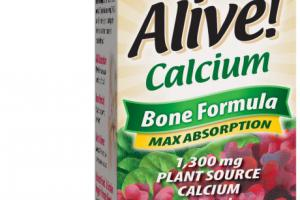 MAX ABSORPTION CALCIUM BONE FORMULA 1,300 MG PLANT SOURCE DIETARY SUPPLEMENT TABLETS