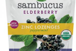 ELDERBERRY ZINC DIETARY SUPPLEMENT LOZENGES, PEPPERMINT
