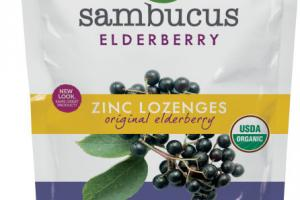 ELDERBERRY ZINC DIETARY SUPPLEMENT LOZENGES, ORIGINAL ELDERBERRY