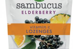 ELDERBERRY VITAMIN C DIETARY SUPPLEMENT LOZENGES, TROPICAL