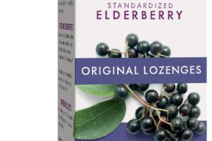 STANDARDIZED ELDERBERRY DIETARY SUPPLEMENT ORIGINAL LOZENGES