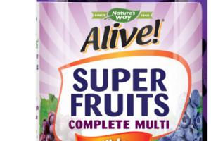 KIDS SUPER FRUITS POWDER BLEND (150 MG) COMPLETE MULTI-VITAMIN SUPPLEMENT GUMMIES