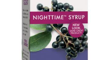 STANDARDIZED ELDERBERRY NIGHTTIME WITH MELATONIN, LEMON BALM & PASSIONFLOWER DIETARY SUPPLEMENT SYRUP