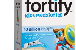 KIDS PROBIOTICS PROMOTE HEALTHY IMMUNE FUNCTION SUPPLEMENT SINGLE SERVE PACKETS, VANILLA