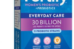EVERYDAY CARE WOMEN'S PROBIOTIC + PREBIOTICS PROBIOTIC SUPPLEMENT DELAYED-RELEASE VEG. CAPSULES