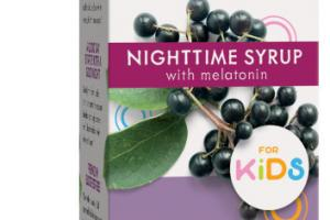 STANDARDIZED ELDERBERRY NIGHTTIME WITH MELATONIN FOR KIDS DIETARY SUPPLEMENT SYRUP