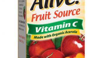 FRUIT SOURCE VITAMIN C DIETARY SUPPLEMENT VEGETARIAN CAPSULES