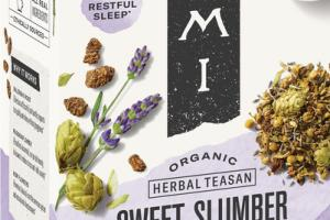 ORGANIC HERBAL TEASAN SWEET SLUMBER CHAMOMILE AND LAVENDER WITH VALERIAN ROOT HERBAL SUPPLEMENT
