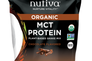 CHOCOLATE FLAVORED ORGANIC MCT PROTEIN PLANT-BASED SHAKE MIX DIETARY SUPPLEMENT