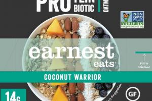 COCONUT WARRIOR PROTEIN PROBIOTIC OATMEAL