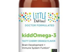 BRAIN DEVELOPMENT + IMMUNE SYSTEM FUNCTION KIDDOMEGA-3 DIETARY SUPPLEMENT, TASTY CHERRY ORANGE FLAVOR