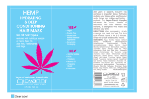 HEMP HYDRATING & DEEP CONDITIONING HAIR MASK